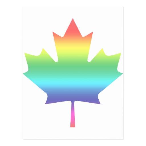 Arco iris Canadá Postales