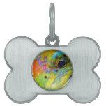 Arco iris celestial placa mascota