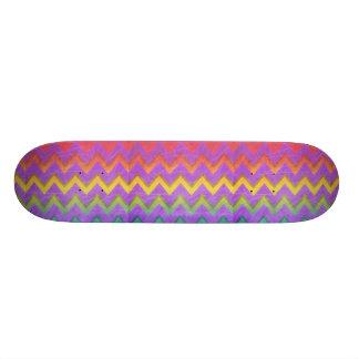 Arco iris Chevron con Sombra-Rasguñado Patines Personalizados