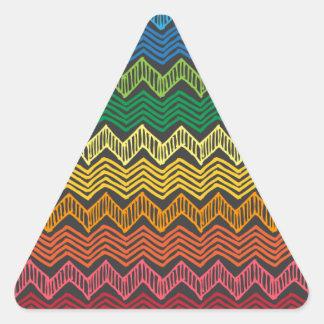Arco iris Chevron Pegatina Triangular