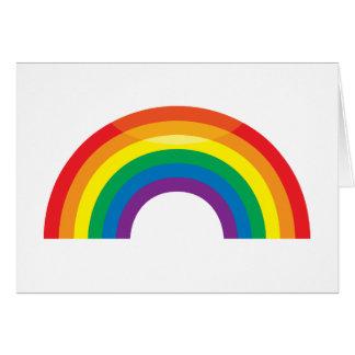 Arco iris clásico tarjeta de felicitación