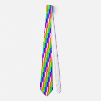 Arco iris coloreado de los movimientos corbata personalizada