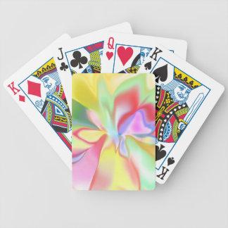 Arco iris coloreado suavidad cartas de juego
