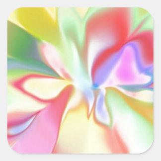 Arco iris coloreado suavidad pegatina cuadrada