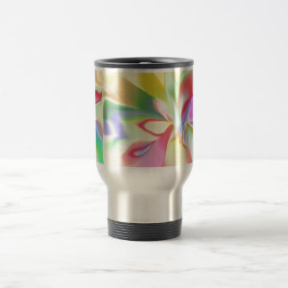Arco iris coloreado suavidad taza térmica