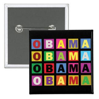 Arco iris colorido de Barack Obama Pins