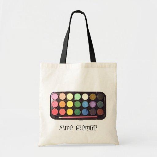 Arco iris colorido de la caja de la pintura bolsa tela barata