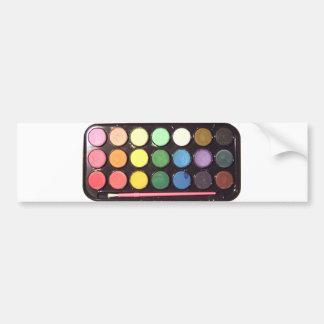 Arco iris colorido de la caja de la pintura etiqueta de parachoque