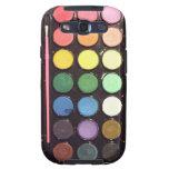 Arco iris colorido de la caja de la pintura galaxy s3 protectores