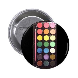 Arco iris colorido de la caja de la pintura pin redondo de 2 pulgadas