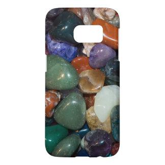 Arco iris colorido de rocas pulidas fundas samsung galaxy s7