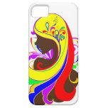 Arco iris colorido del ~ del chica iPhone 5 cobertura