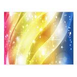 Arco iris colorido y magnífico tarjeta postal
