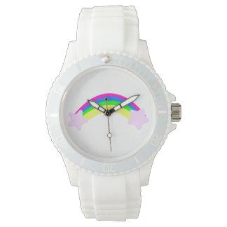 Arco iris con las estrellas reloj de mano