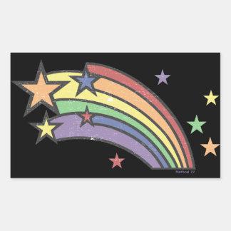 Arco iris con los pegatinas de las estrellas rectangular altavoz