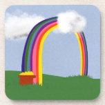 Arco iris con un arte del dibujo animado de la min posavaso