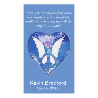 Arco iris conmemorativo de la paz de la tarjeta el tarjetas de visita