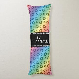 Arco iris conocido personalizado que recicla el cojin cama