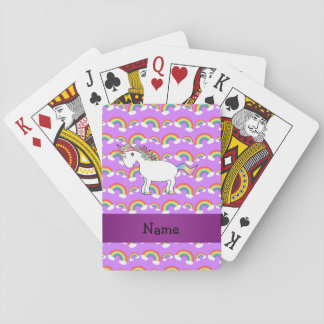 Arco iris conocidos personalizados de la púrpura cartas de póquer