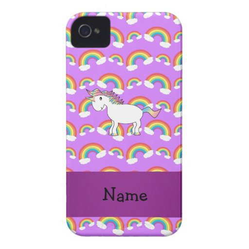Arco iris conocidos personalizados de la púrpura d iPhone 4 Case-Mate carcasa