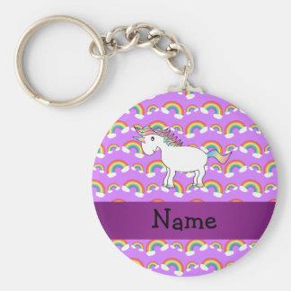 Arco iris conocidos personalizados de la púrpura d llavero redondo tipo pin