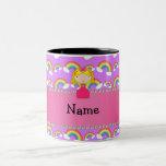 Arco iris conocidos personalizados de la púrpura d taza de café
