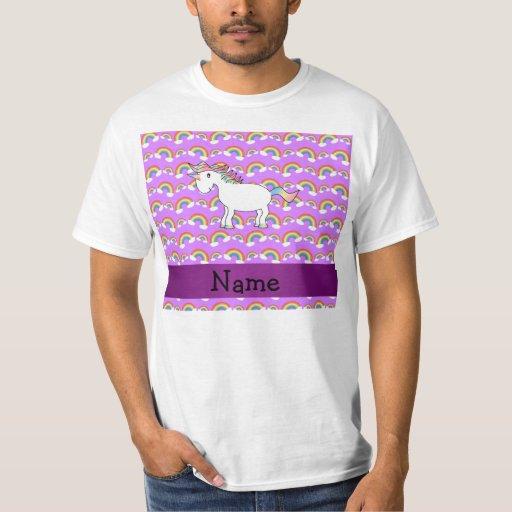 Arco iris conocidos personalizados de la púrpura playeras