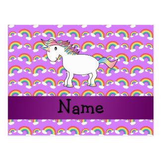 Arco iris conocidos personalizados de la púrpura postal