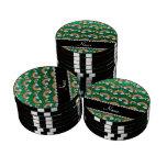 Arco iris conocidos personalizados del brillo de l juego de fichas de póquer