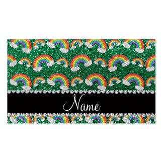 Arco iris conocidos personalizados del brillo de l tarjeta de visita