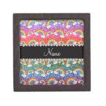 Arco iris conocidos personalizados del brillo del  cajas de recuerdo de calidad