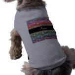Arco iris conocidos personalizados del brillo del  camisetas de mascota
