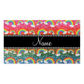 Arco iris conocidos personalizados del brillo del  plantillas de tarjetas personales