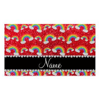 Arco iris conocidos personalizados del brillo del  tarjetas de visita