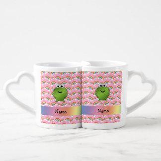Arco iris conocidos personalizados del rosa de la tazas para enamorados