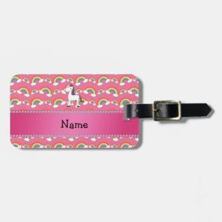 Arco iris conocidos personalizados del rosa del etiquetas para maletas