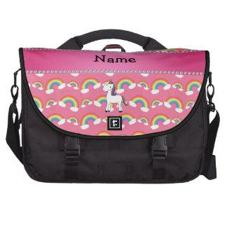 Arco iris conocidos personalizados del rosa del un bolsas para portátil
