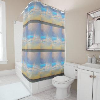 Arco iris cortina de baño