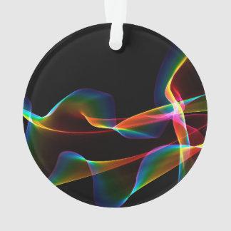 Arco iris cósmico estriado, vientos abstractos