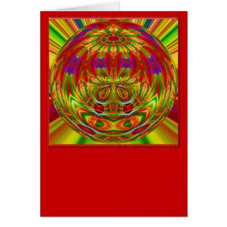 Arco iris cristalino tarjeta de felicitación