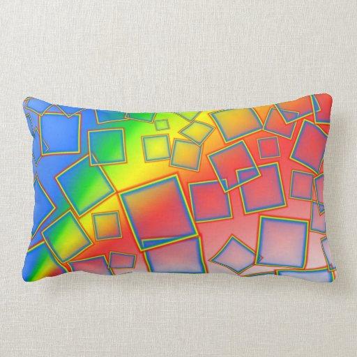 Arco iris cuadrados almohadas