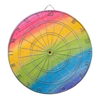 Arco iris de acrílico tabla dardos