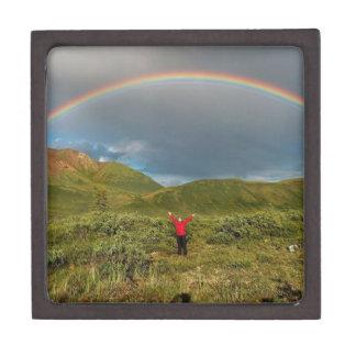 ¡Arco iris de Alaska doble foto real Caja De Joyas De Calidad