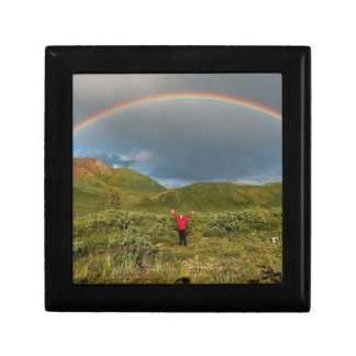¡Arco iris de Alaska doble foto real Cajas De Regalo