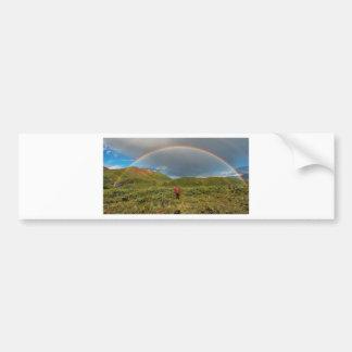 ¡Arco iris de Alaska doble, foto real! Pegatina Para Auto