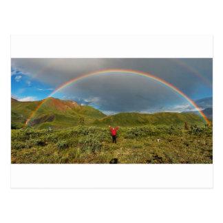 ¡Arco iris de Alaska doble, foto real! Postal