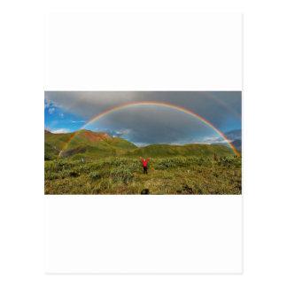 ¡Arco iris de Alaska doble, foto real! Tarjeta Postal