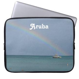Arco iris de Aruba Funda Portátil