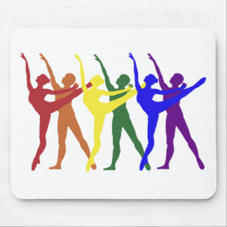 Arco iris de bailarines tapetes de raton