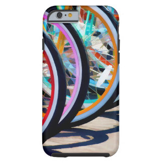 Arco iris de bicicletas funda para iPhone 6 tough